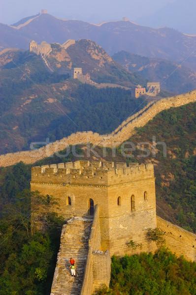 Gran muralla China edificio viaje piedra ladrillo Foto stock © raywoo