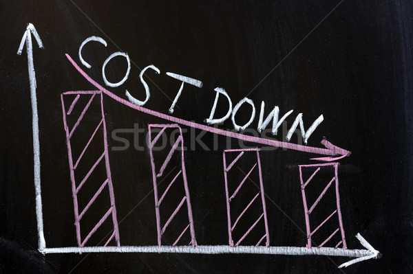 Cost down chart Stock photo © raywoo