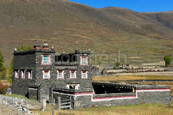 Tibetan building Stock photo © raywoo