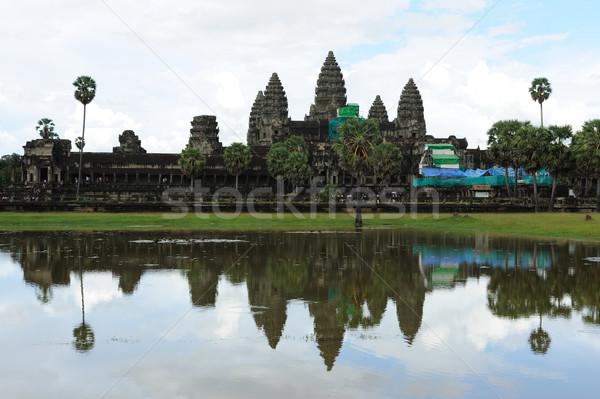 カンボジア アンコールワット 寺 風景 ツリー 建物 ストックフォト © raywoo