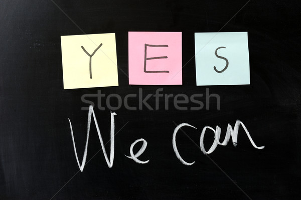 Stock photo: Yes we can