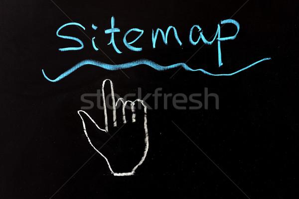 サイトマップ ビジネス 書く 手紙 黒 ストックフォト © raywoo