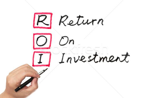 Roi 投資 単語 書かれた ホワイトボード ストックフォト © raywoo