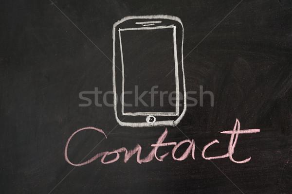 連絡 携帯 黒板 ビジネス インターネット ストックフォト © raywoo