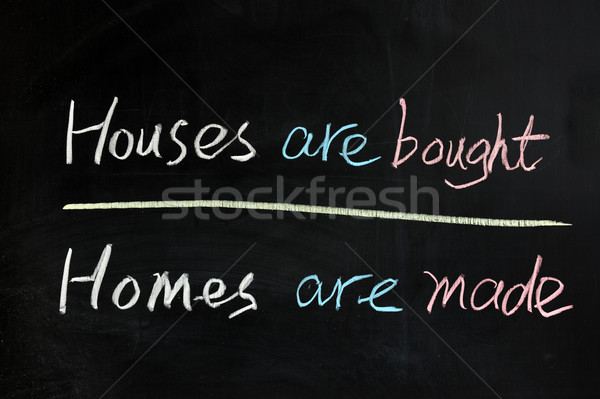 House are bought, homes are made Stock photo © raywoo