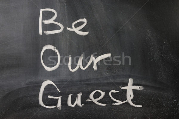 Be our guest Stock photo © raywoo