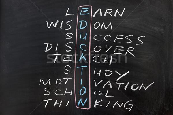 Education concept crosswords Stock photo © raywoo