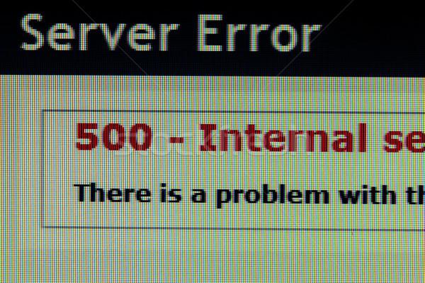 сервер ошибка страница Код 500 Компьютерный монитор Сток-фото © raywoo