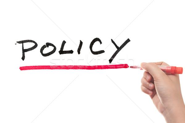 Irányvonal szó írott fehér tábla törvény ír Stock fotó © raywoo