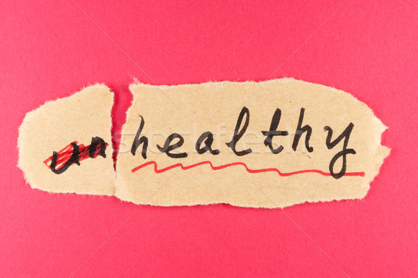 Unhealthy to healthy Stock photo © raywoo