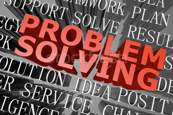 Problem solving word cloud Stock photo © raywoo