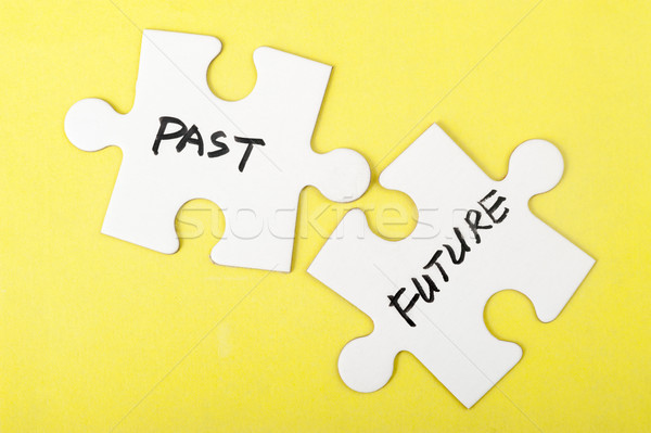 Past and future words Stock photo © raywoo