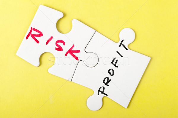 リスク 利益 単語 書かれた 2 ピース ストックフォト © raywoo