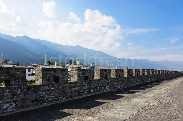 China ancient city wall Stock photo © raywoo