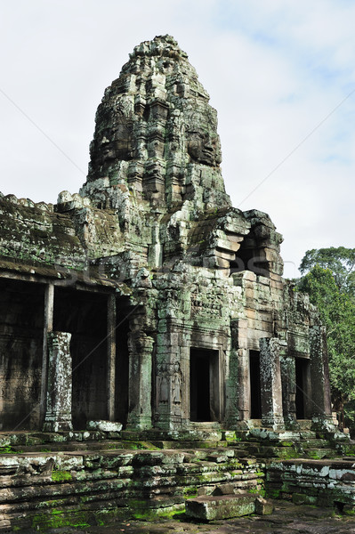 Bayon temple, Angkor, Cambodia Stock photo © raywoo