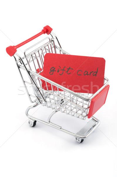Geschenkkarte Worte geschrieben rot Papier Karte Stock foto © raywoo