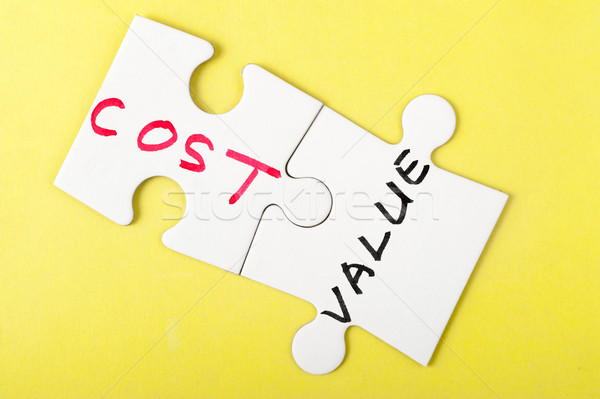 Cost and value Stock photo © raywoo