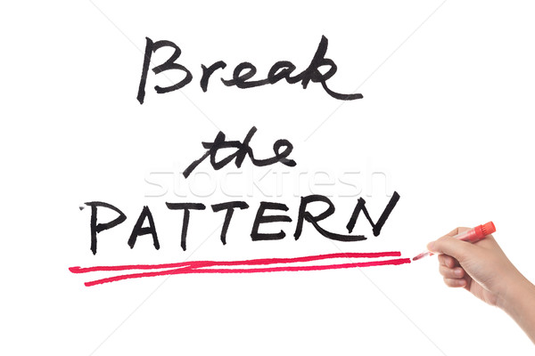 Break the pattern Stock photo © raywoo