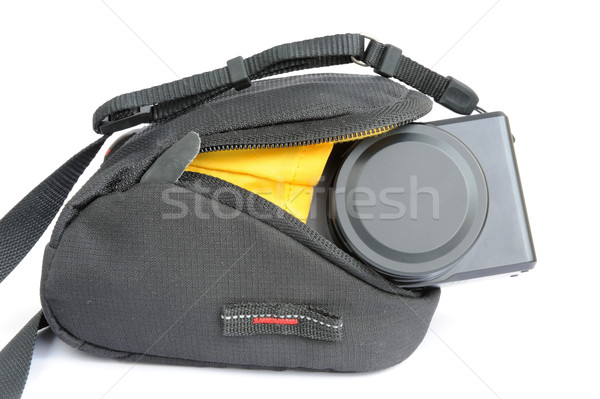 Compact digital camera in bag Stock photo © raywoo
