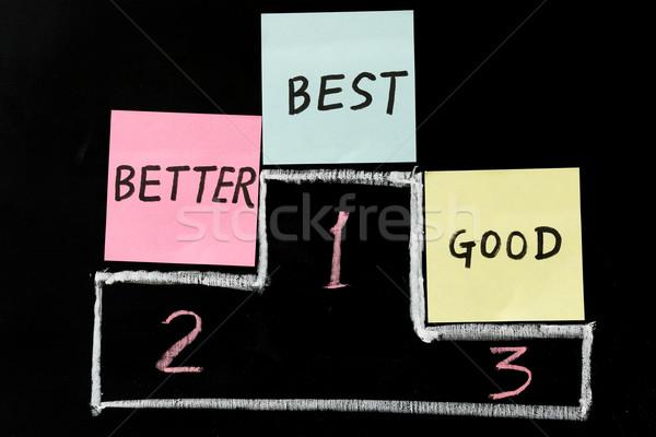 Jó jobb legjobb krétarajz üzlet ír Stock fotó © raywoo