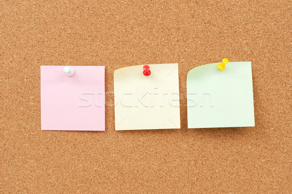 Thumbtack and note paper group Stock photo © raywoo
