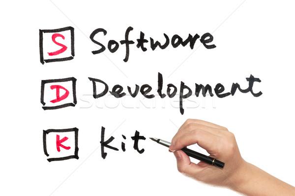 SDK - software development kit Stock photo © raywoo