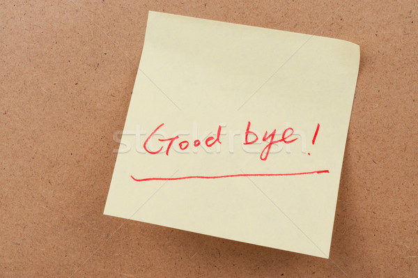 Good bye words Stock photo © raywoo
