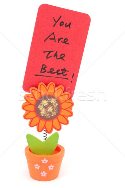 Meilleur mots écrit papier soleil Photo stock © raywoo