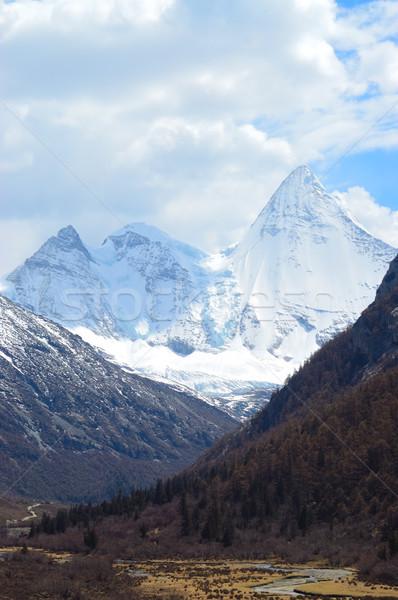 Snowy Mountains Stock photo © raywoo