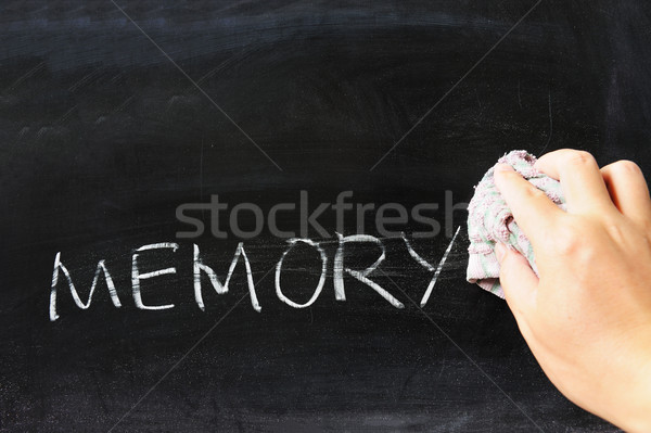 Stock photo: Wiping off memory