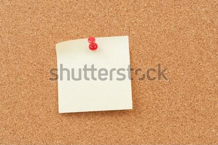 Thumbtack and note paper Stock photo © raywoo
