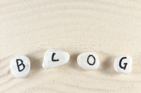 Blog word Stock photo © raywoo