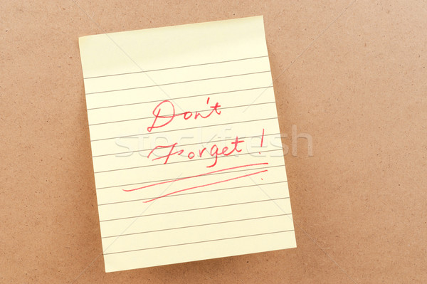 Don't forget words Stock photo © raywoo