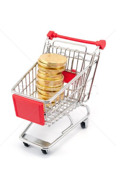 Münze Form Warenkorb voll Business Finanzierung Stock foto © raywoo