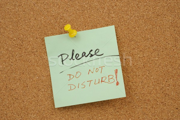 Please do not disturb! Stock photo © raywoo