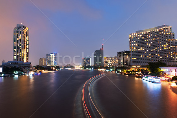 Night scene of Bangkok city Stock photo © raywoo