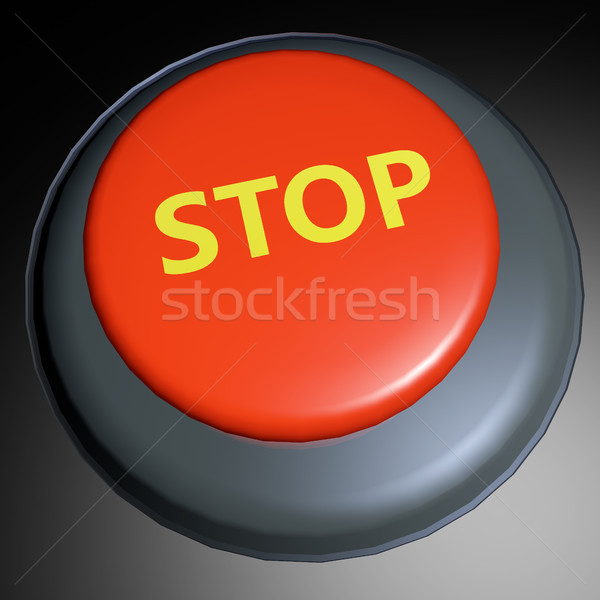 Stop 3D button Stock photo © raywoo