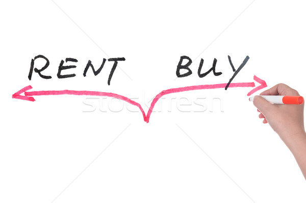 Rent versus buy concept Stock photo © raywoo