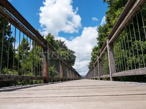 Wood bridge Stock photo © raywoo