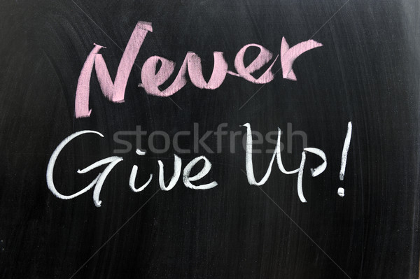 Never give up! Stock photo © raywoo