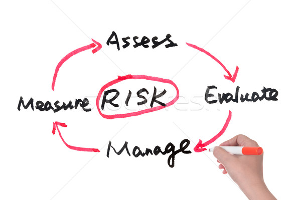 Risk management concept Stock photo © raywoo
