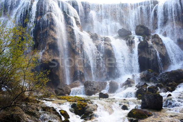 Waterfall landscape of China Jiuzhaigou Stock photo © raywoo
