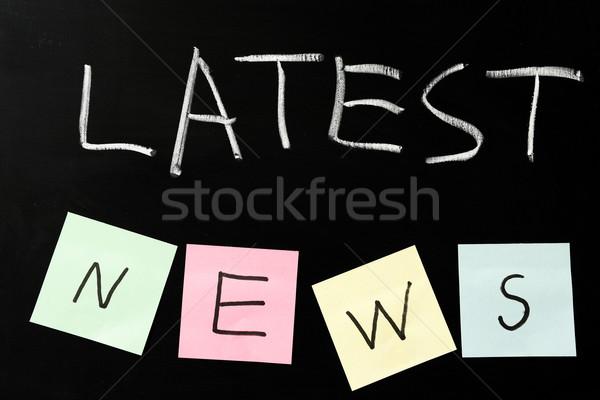 Latest news Stock photo © raywoo