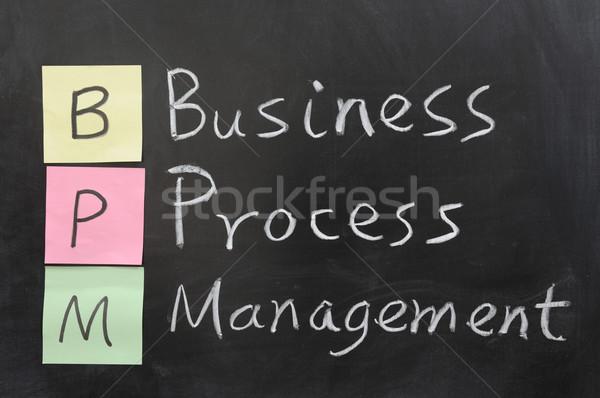 Bpm iş süreç yönetim model Stok fotoğraf © raywoo