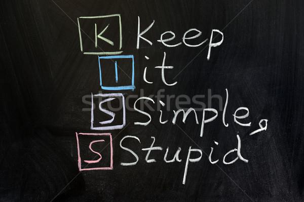 Beijo simples estúpido preto conselho Foto stock © raywoo