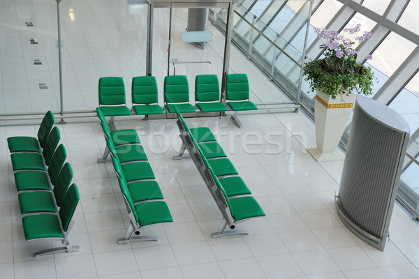 Chairs in departure hall Stock photo © raywoo