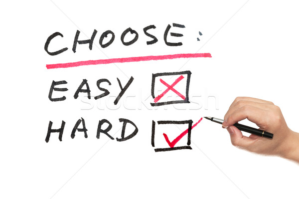 Choose between easy and hard Stock photo © raywoo