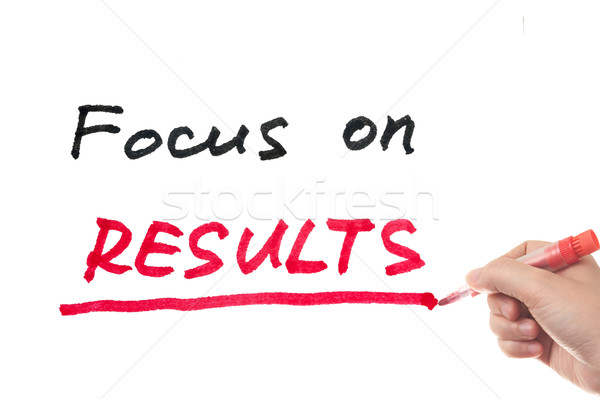 Focus on results Stock photo © raywoo