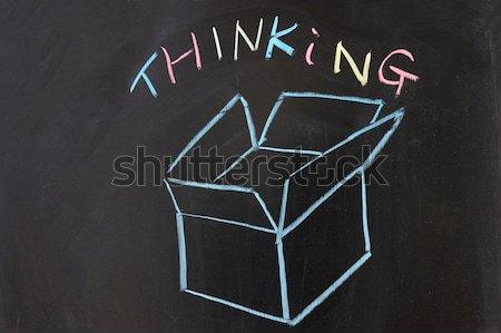 Think outside the box Stock photo © raywoo