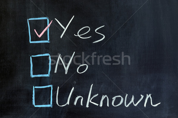 Yes, no or unknown Stock photo © raywoo
